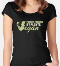 Proudly Powered by Plants Women's Fitted Scoop T-Shirt