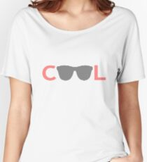 Cool - sunglass - black and red. Women's Relaxed Fit T-Shirt