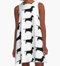 dachshund silhouette A-Line Dress
