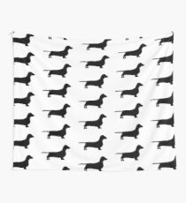 dachshund silhouette Wall Tapestry