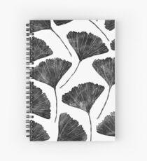 Cuaderno de espiral Ginkgo biloba, Lino cortó el patrón de la hoja inspirada en la naturaleza