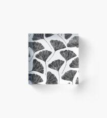 Bloque acrílico Ginkgo biloba, Lino cortó el patrón de la hoja inspirada en la naturaleza