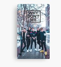 Why don't we Frozen Canvas Print
