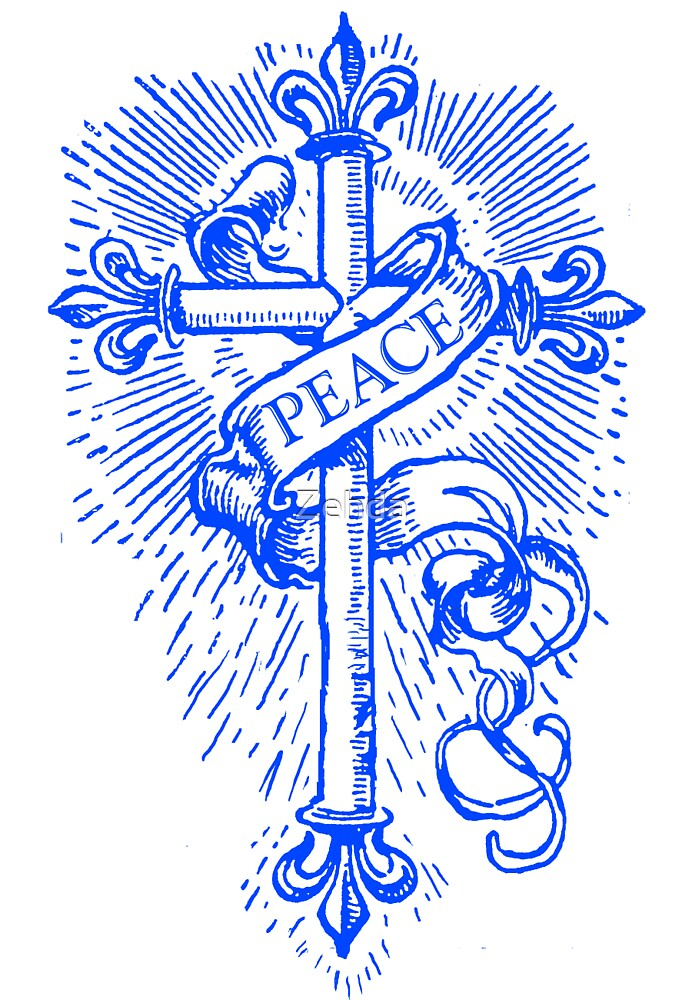 Peace Cross & Banner by Zehda