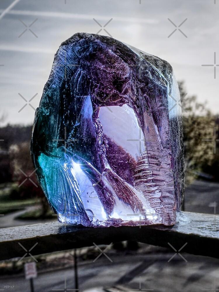 Blue Glass Still Life by Phil Perkins
