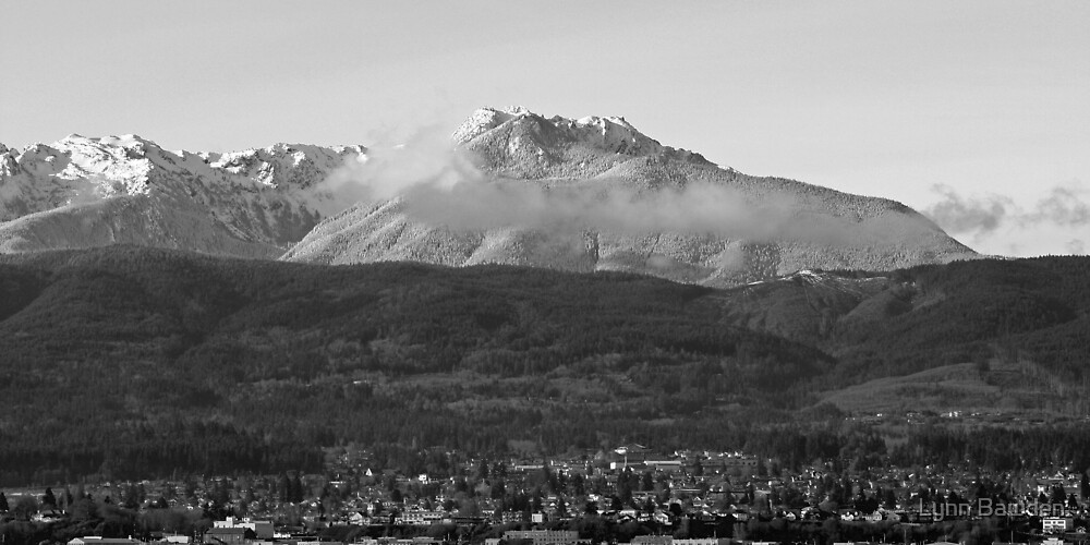 """Port Angeles and Snow Covered Mount Angeles"" by Lynn Bawden"