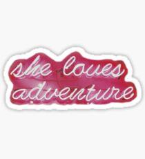 """She Loves Adventure"" Neon Sign  Sticker"