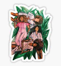 Girls In A Grass Blanket Sticker