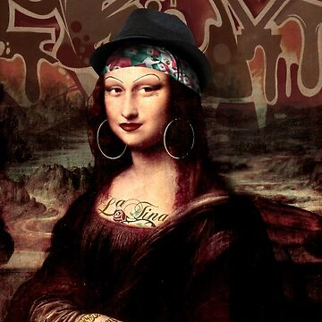 La Chola Mona Lisa With Hat by Gravityx9
