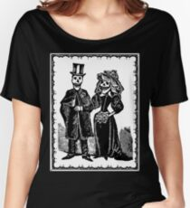 Skeleton Wedding (Border) Women's Relaxed Fit T-Shirt