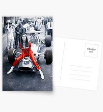 Ferrari 312F1 & Lady in Red Postcards