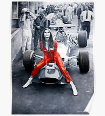 Ferrari 312F1 & Lady in Red Poster