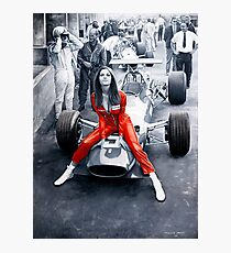Ferrari 312F1 & Lady in Red Photographic Print