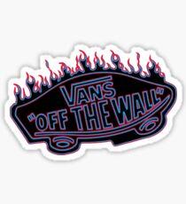 Blue and Pink Vans Thrasher Sticker
