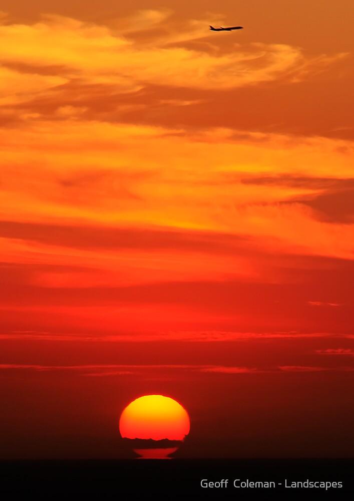Dawn's Flight by Geoff  Coleman - Landscapes