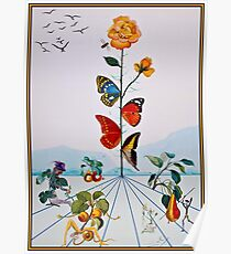 SCHMETTERLING: Vintage Abstract Dali Malerei drucken Poster