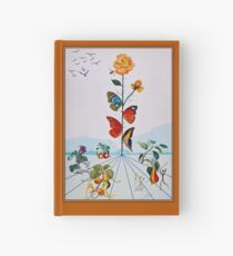 BUTTERFLY ROSE : Vintage Abstract Dali Painting Print Hardcover Journal
