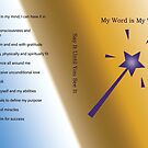 My Word Is My Wand Affirmations LOA by CrazyCraftLady
