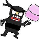 angry zombie ninja by shortstack