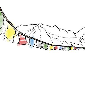 Tibetan Prayer Flags by footloosefabric
