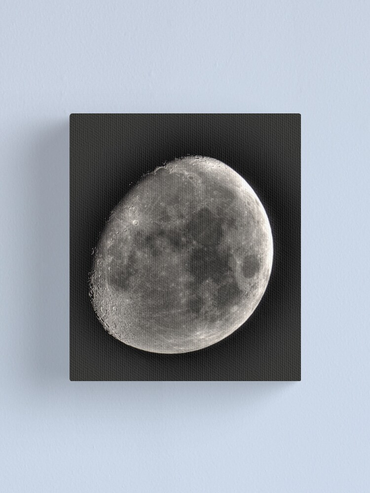 Alternate view of moon in HDR Canvas Print