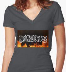 Hellbenders logo Women's Fitted V-Neck T-Shirt