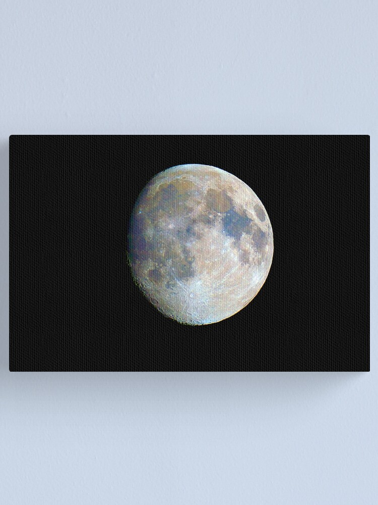 Alternate view of moon in colour Canvas Print