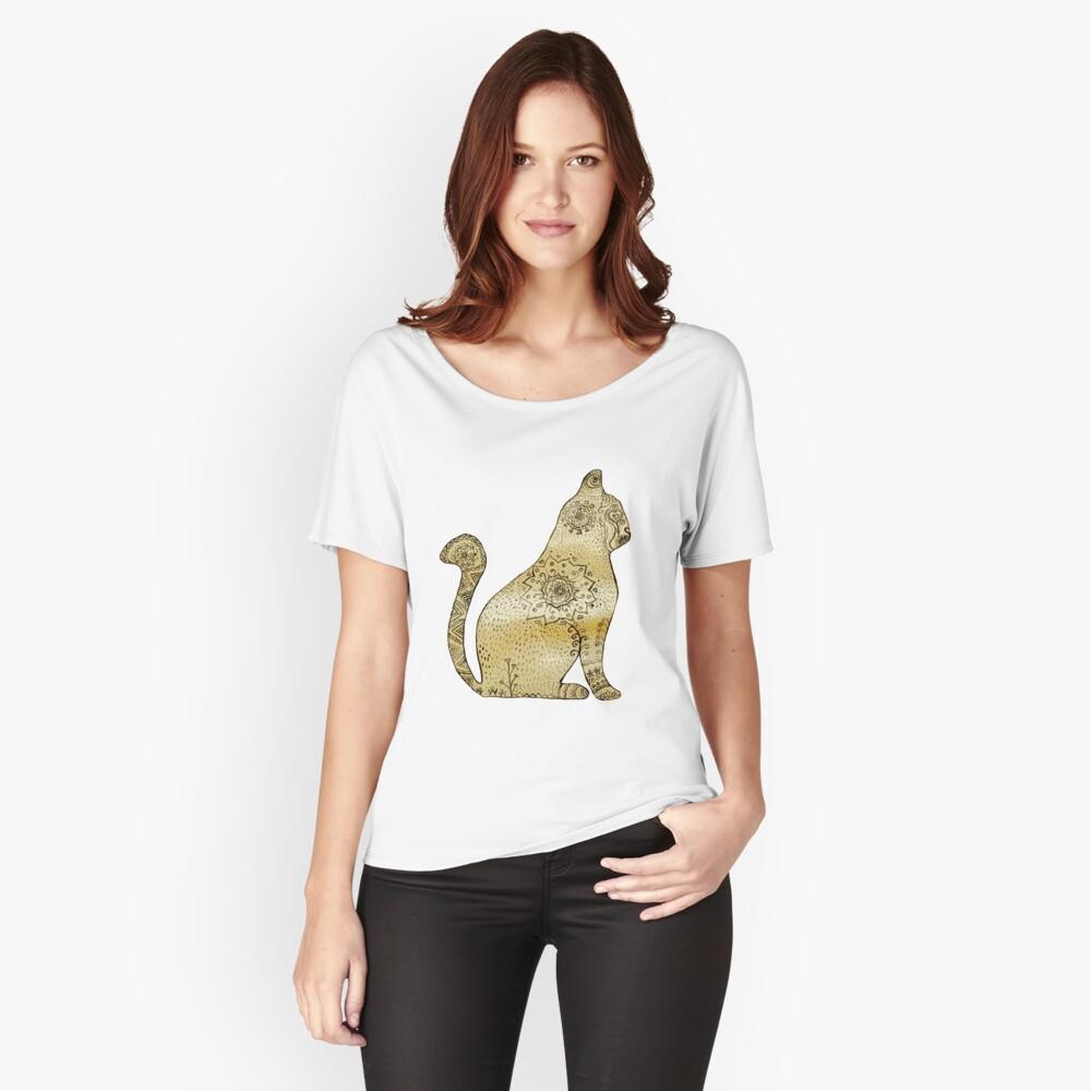 Mandala Cat Camiseta ancha