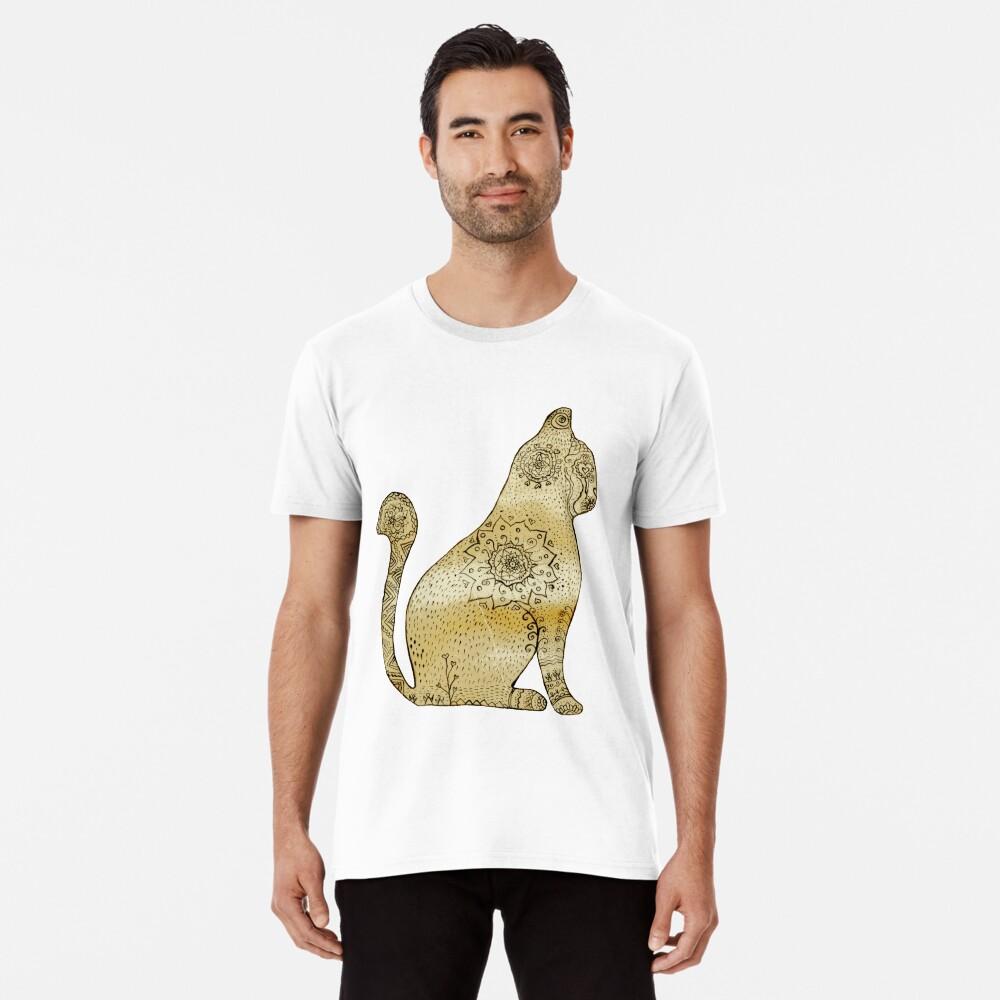 Mandala Cat Camiseta premium