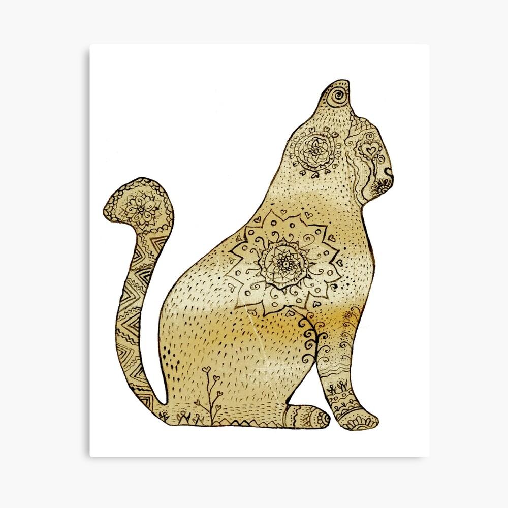 Mandala Cat Lienzo
