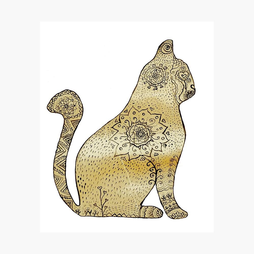 Mandala Cat Lámina fotográfica