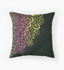 Lacy mandala Throw Pillow