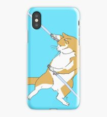 CAT WARS - Dule Blue Saber Cat iPhone Case/Skin