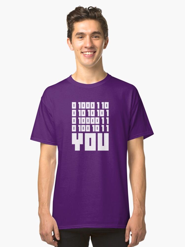 Fuck You - Binary Code Classic T-Shirt Front