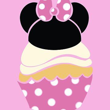 Cupcake Characters: Minnie by pondlifeforme