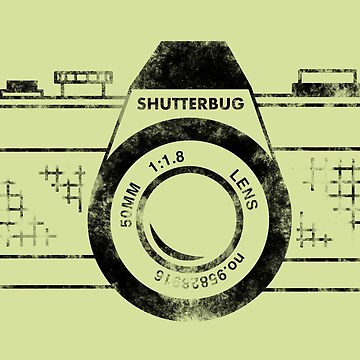 Shutterbug Vintage Camera Black by lavenderochre