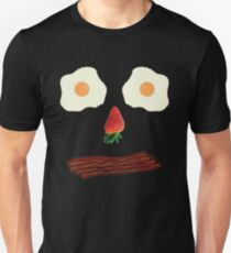 Bacon and Eggs Breakfast Face Unisex T-Shirt