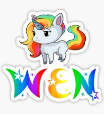 Wen Unicorn Sticker