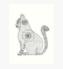 Lámina artística Mandala Cat