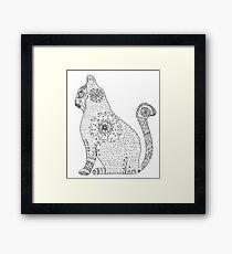 Lámina enmarcada Mandala Cat