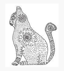 Lámina fotográfica Mandala Cat