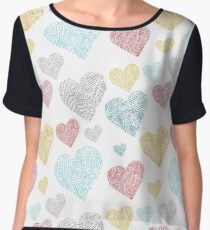 Heart pattern Chiffon Top