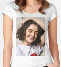 Lucy Hale Women's Fitted Scoop T-Shirt