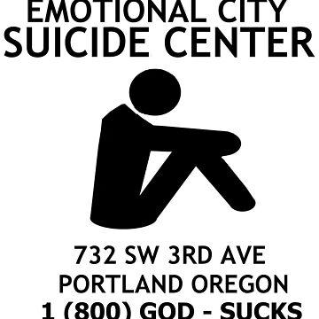 EMOTIONAL CITY SUICIDE CENTER by Drehverworter59