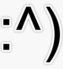 colon caret closed parenthesis Sticker