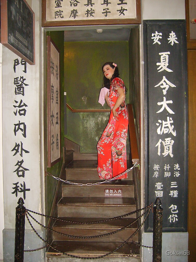 A woman in Shanghai Tv tower museum by Goksel63