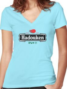 Brewhouse: Hadouken Women's Fitted V-Neck T-Shirt