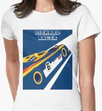 Diehard racer retro Women's Fitted T-Shirt