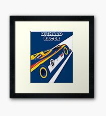 Diehard racer retro Framed Print