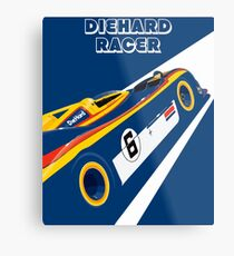Diehard racer retro Metal Print